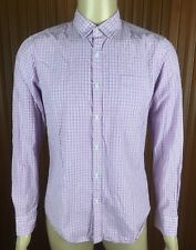 (Used) Mens Witchery Man Long Sleeve Button Front Shirt Size: M Pink Checks
