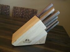 Vintage 7 Piece  CHICAGO CUTLERY Knife Set with Wood Storage Block