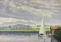 Rudolf HOFFMANN 1891 - 1978 - Segelboot am Chiemsee ?