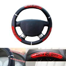 Non-Slip Steering Wheel Cover PU Leather Universal for Car 38cm 15'' Dragon Icon