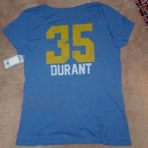 NEW NBA Kevin Durant Golden St State Warriors Basketball Jersey T Shirt Women S