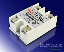 New 25A SSR Solid State Relay 3-32V DC 24-380V AC