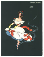 Turkish Trophies large cigarette card - girl of 1829