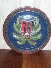 Sammler Heraldik Wappenteller alte Keramik Antik Kanton Baselland Basel Schweiz