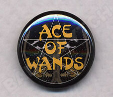ACE OF WANDS Badge Button Pin - retro classic!
