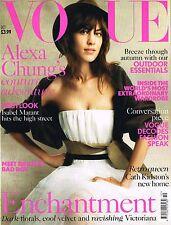 VOGUE UK October 2013 ALEXA CHUNG Kate Moss NATASHA VOJNOVIC Kendra Spears