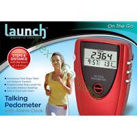 Talking Pedometer Exercise Step Distance Walking Calorie LCD Run Running Jogging