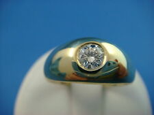 !HANDSOME 14K GREEN GOLD GYPSY SOLIATIRE MEN'S DIAMOND RING 6.3 GRAMS SIZE 8 1/2