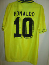 Brazil 1994 Ronaldo 10 Home Football Shirt Medium /9744