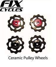 Uniti Carbon Fibre Jockey Wheels with Ceramic Bearings - 6.5g each