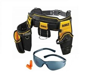Dewalt DWST1-75552 Heavy Duty Tool Belt + RST Black Safety Glasses with Earplug