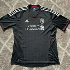 Liverpool Football Away Shirt 2011/12 Black Adidas XL Extra Large FC Rare Scarce