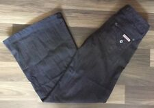 Hudson Women's Jeans Triangle Pockets Wide Leg W3762DLA PRE Dark Wash Sz 28