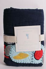 Nwt Pottery Barn Kids Eric Space quilted standard sham navy blue