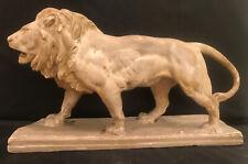 """Vintage Signed  Barye  Plaster / Ceramic Lion Figurine / Statue 15 1/2 """""""