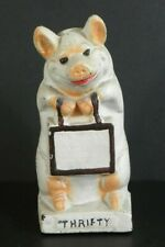 Vintage Thrifty ~ The Wise Pig ~ Cast Iron Bank
