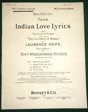 Four Indian Love Lyrics © 1903 No.1 Contralto/Baritone Music, The Garden of Kama