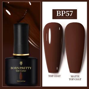 BORN PRETTY UV Gel Nail Polish 10ml Matte Top Black Autumn Winter Nail Polish