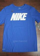 New Men Nike Classic Tee T-shirt Crew Neck Top Logo Dri-Fit Cotton Blue Large L