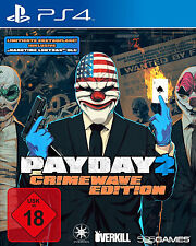 Payday 2 Crimewave Day One Edition (inkl. Lootbag) PS4-Spiel Neu
