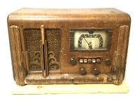 Vintage Antique Wood Silvertone Tube Short Wave Radio with original paperwork!