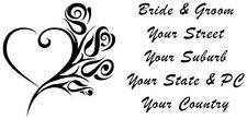 120 LARGE PERSONALISED WEDDING INVITATION RETURN ADDRESS LABEL STICKERS HEART