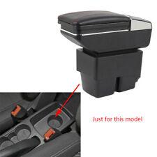 For Ford Fiesta 3 MK7 2009-2014 Car Centre Console Storage Box Armrest Rotatable