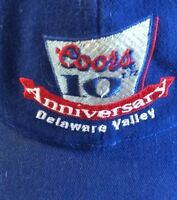 COORS 10th Anniversary Beer Trucker Ball Cap Hat Blue Baseball Cotton SnapBack