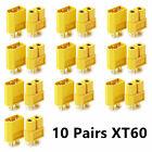 20 Pieces Nylon XT60 High Current ESC Lipo Battery Connector Plug Socket Yellow