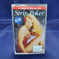 Commodore 64 Very Rare Strip Poker Tape 1982 C64/128 Game Collectable, Vintage