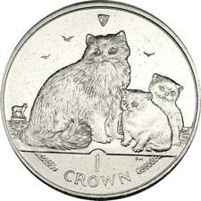elf IOM Isle of Man 1 Crown 2007 Ragdoll Cat and Kittens