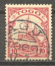 Togo 10 Pf. Yacht, AGU CDS,  VF ++, signed R. Steuer, BPP