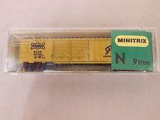 N SCALE MINITRIX FRISCO 50' DOUBLE DOOR BOX CAR