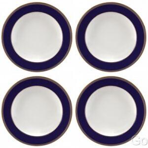 """Wedgwood Renaissance Gold Rim Soup Bowls 9"""" Four Bowls (4) new w/ tag 5C10210101"""