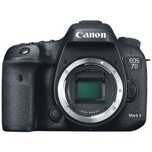 "Canon EOS 7D Mark II Body 20.2mp 3"" LPE6 BGE16 DSLR Camera New Cod Agsbeagle"