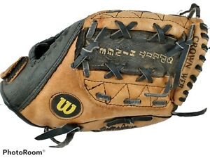 "Wilson A2479 Pro 450 Youth Baseball Glove 10.5"" RHT Leather Dual Hinge Used"