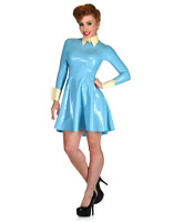 Latex Catsuit Rubber Gummi Sexy Standing Collar Dress Fitted Customized 0.4mm