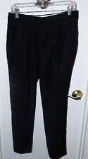 TALBOTS BLACK ITALIAN FLANNEL DRESS PANTS SZ 6P NWOTS $139 RETAIL