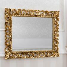 Specchiera Zaafira stile Barocco cornice traforata foglia oro specchio molato cm