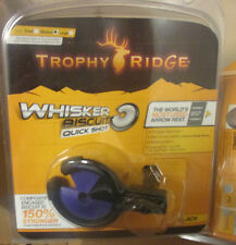 New Trophy Ridge Whisker Biscuit Quick Shot Rest Universal RH/LH MEDIUM PURPLE