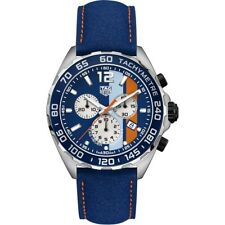 Tag Heuer Men's CAZ101N.FC8243 Formula 1 Chronograph Blue Leather Watch