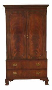 47269EC: KITTINGER Chippendale Mahogany Bedroom Armoire Wardrobe
