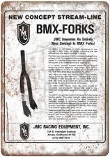 "JMC BMX Racing Equipment Forks Ad 10"" x 7"" Reproduction Metal Sign B482"