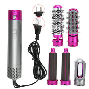 5In1 Hair Dryer & Volumizer Brush Hot Air Comb Straightener Curler Iron INSTOCK!