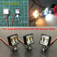 2PCS RC Car LED Light Lamp Searchlight For 1/10  TRX-4 SCX10 D90 TF2 Tamiya CC01