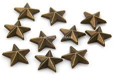 BORCHIE a STELLA 9mm Marrone brown 10pz scarpe Hotfix star termoadesive maglie