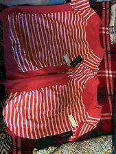 89th & Madison Striped Womans Short Sleeve Shirt Size L