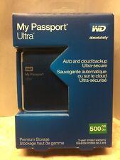 NEW WD 500GB My Passport Ultra Portable Hard Drive USB 2.0 3.0 WXB1A840YKEE