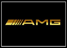 2x Mercedes AMG Schriftzug gold 100 x 10 mm Aufkleber Sticker