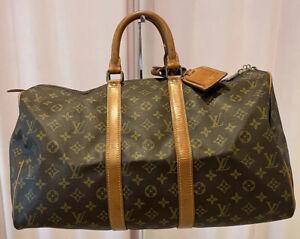 Authentic Louis Vuitton Keepall 45 Monogram Luggage 100% Genuine